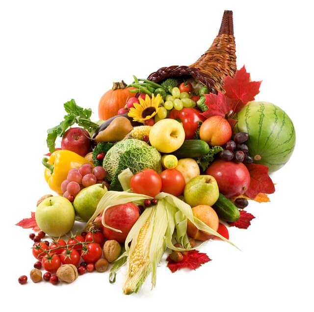A cornucopia of food
