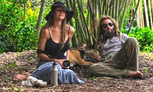 Matthew David and Julie Kersey are photographed relaxing in nature