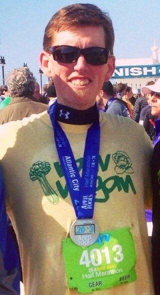 Jason Young at a marathon