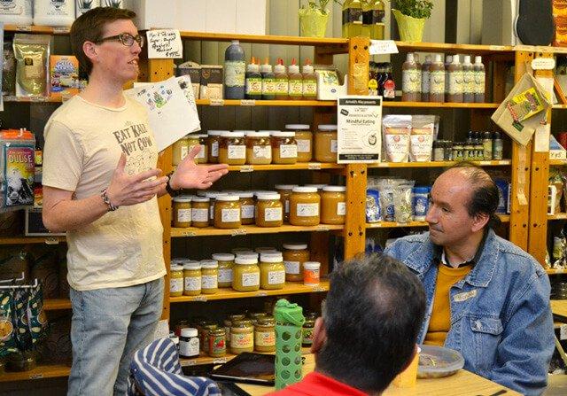 Jason Young talks at Arnold's Way