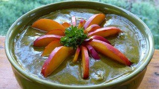 Recipe for Nectarine Ecstasy Soup from Paul and Yulia Tarbath