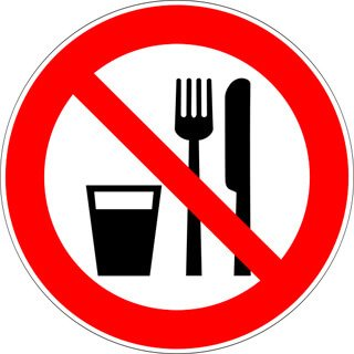 Sign banning eating and drinking