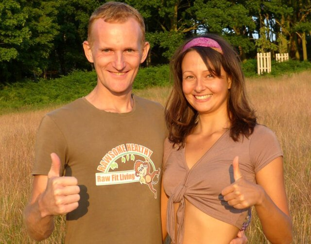 Paul and Yulia Tarbath pose with thumbs up