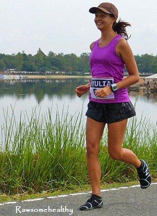 Yulia Tarbath runs a marathon