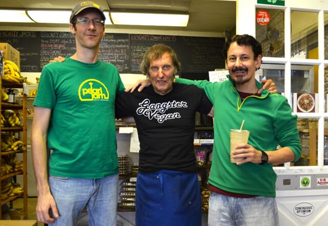Brian Rossiter is photographed with Arnold Kauffman and Luis Souza at Arnold's Way on September 13, 2014