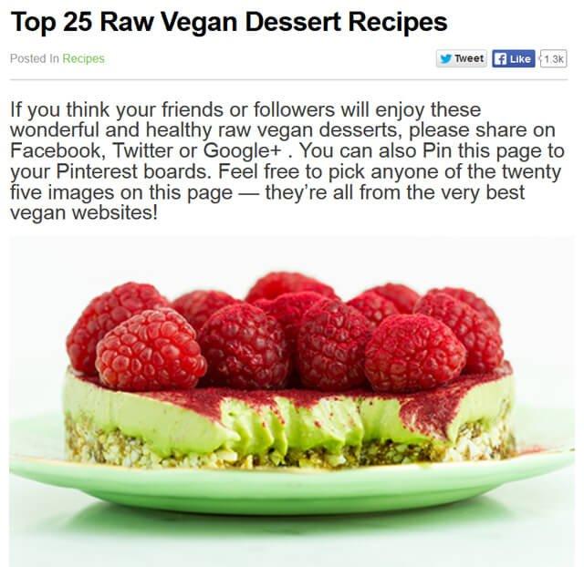 Top 25 Raw Vegan Dessert Recipes on RawVeganPower.com