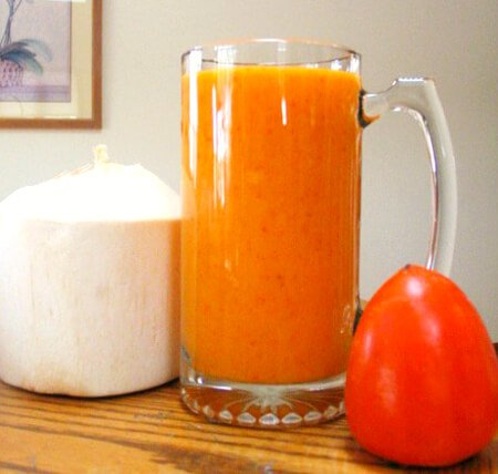 Recipe for Sweet Persimmon Coconut Drink by Mike Vlasaty