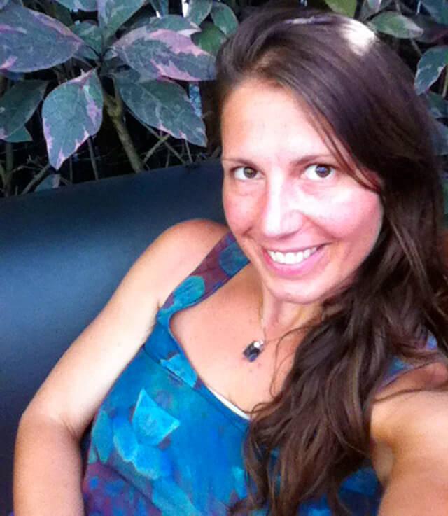 Melanie Lotos pauses to smile