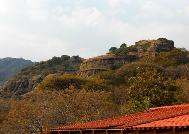 A view of a bluff outside a Mexico City-area orphanage