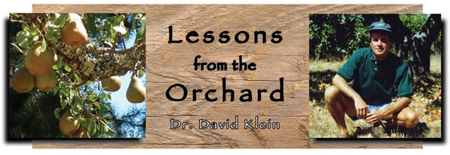 Lesson from the Orchard by Dr. David Klein for Fruit-Powered Digest