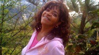 Toni Allen smiles in Jamaica