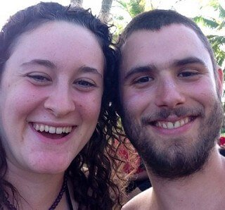 Benjamin Beeler poses with Megan Sherow in Hawaii