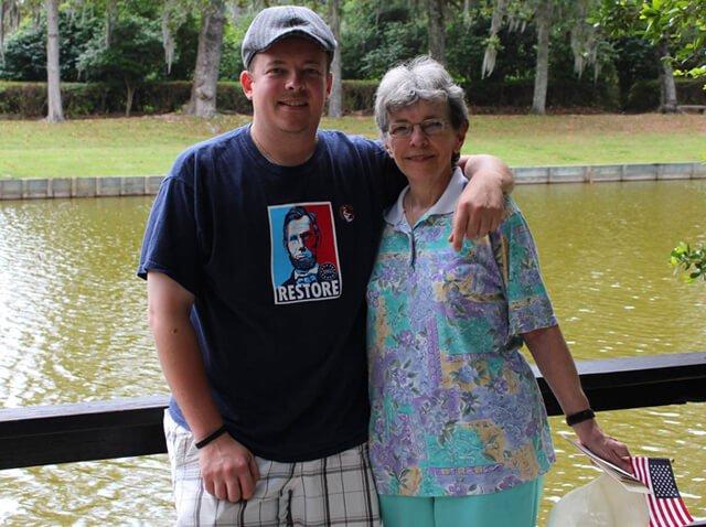 Dan McGrogan with his mother, Pauline