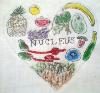 The original logo for Nucleus Raw Foods