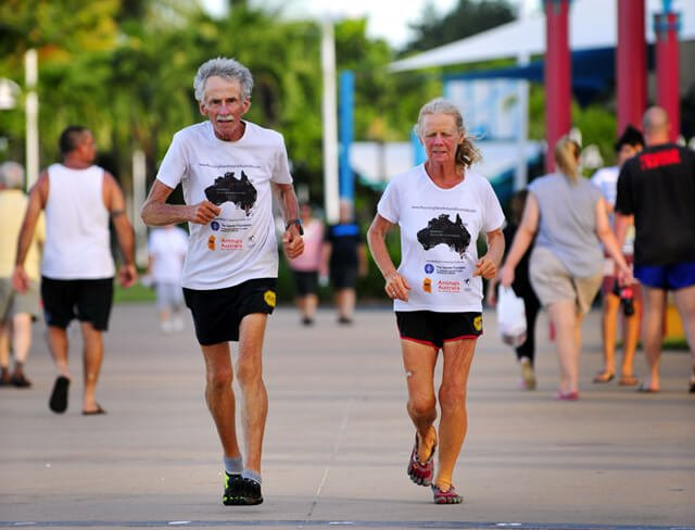 Janette Murray-Wakelin and Alan Murray run in Australia in 2013