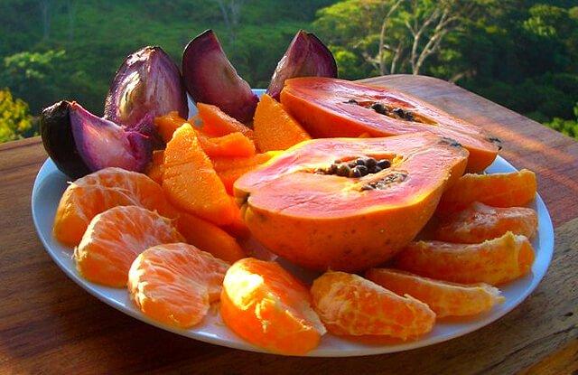 A fruit meal prepared by Ellen Livingston