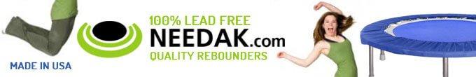 Ad for Needak rebounders