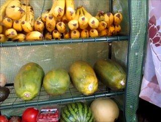 The fruit stash in Joy King's RV