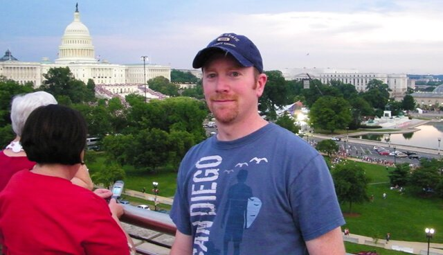 Terry McMenamin smiles before fireworks in Washington, D.C., on July 4, 2011.