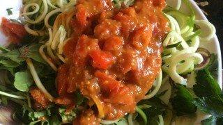 Recipe for Fat-Free Zoodles Marinara from Natalie Markova
