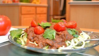 Recipe for Zucchini Spaghetti with Savory Marinara Sauce from Brian Rossiter