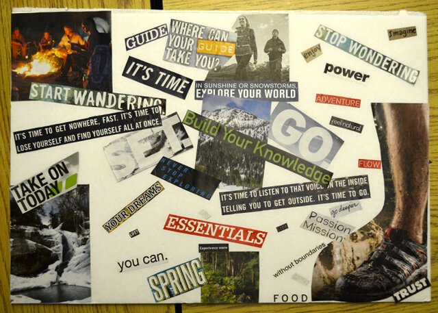 Brian Rossiter's first (incomplete) vision board