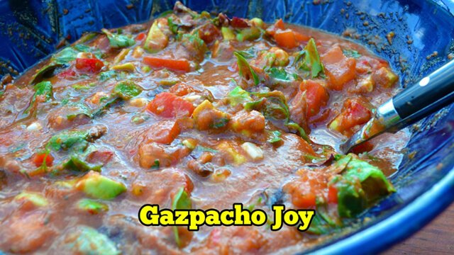 Fruit-Powered Video screenshot for Gazpacho Joy recipe