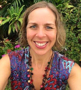 Anthea Frances Falkiner smiles in Cairns, Australia