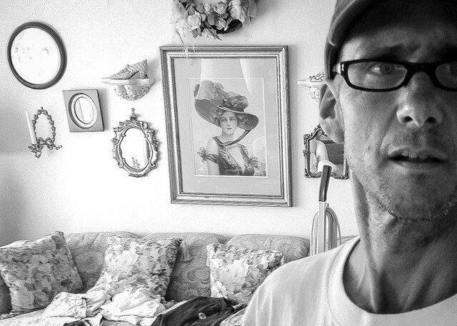 Mark Tassi in a self-photograph in Bellmawr