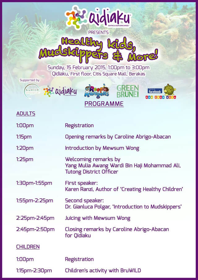 Program for the Qidiaku event