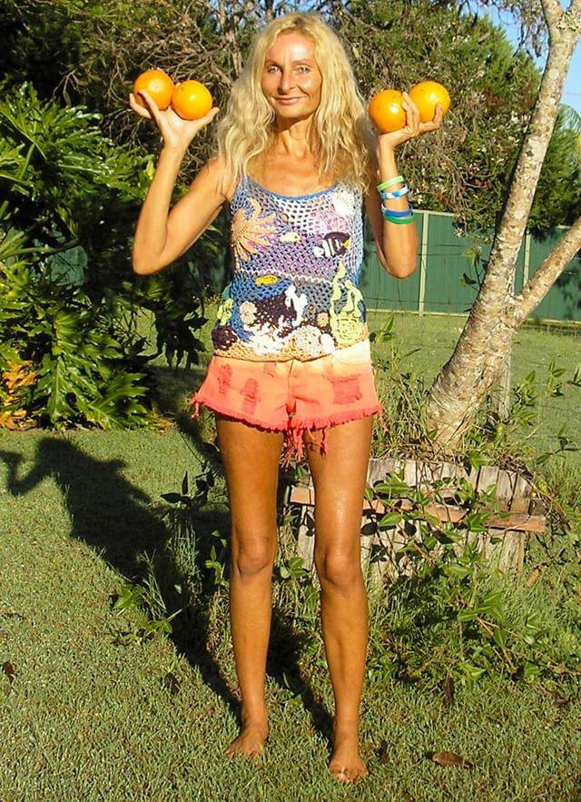 Anne Osborne on Day 63 of an orange juice mono diet