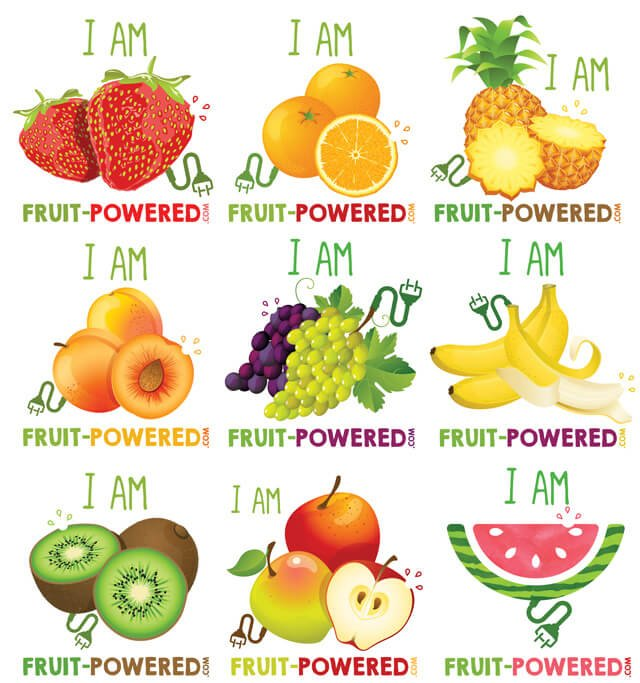 I Am Fruit-Powered designs