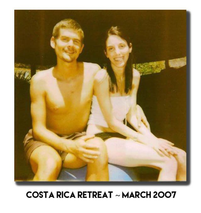 "Jenny Lapan and Harley ""Durianrider"" Johnstone are photographed at a Costa Rica retreat in 2007"
