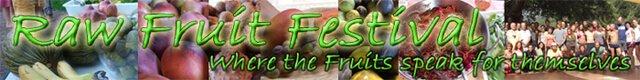 Banner for the Raw Fruit Festival