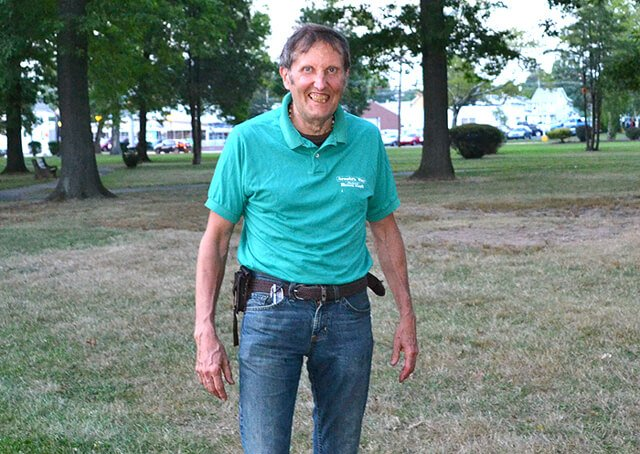 Arnold Kauffman is photographed in Memorial Park in Lansdale, Pennsylvania, on August 4, 2012