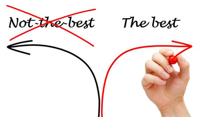 "Illustration showing ""the best"" and ""not the best"""