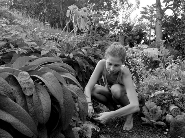 Kat Green is gardening