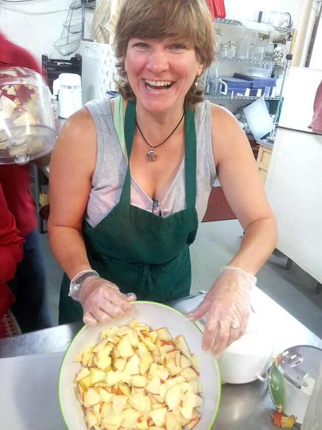 Itsy Sweeney prepares food