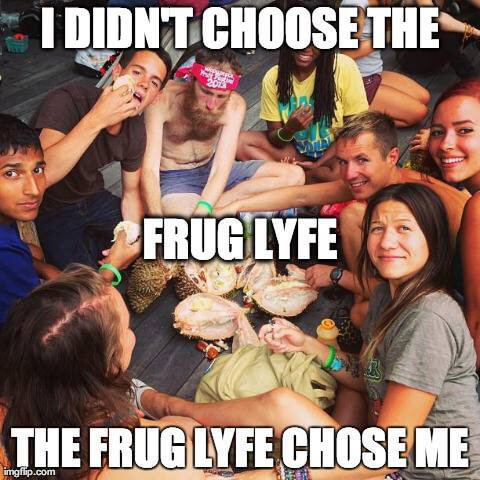 Poster for the FRUG LYFE Facebook community