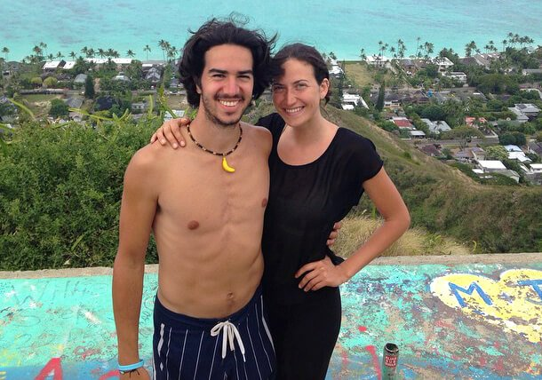 Gabriela and Marco Ranzi are photographed in Hawaii