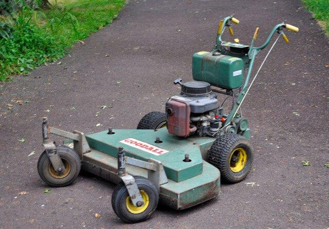 Green Goodall walk-behind lawnmower