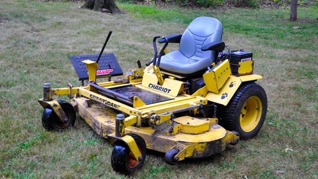 Great Dane Chariot zero-turn lawnmower on grass