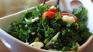 Recipe for The Kale Beatdown—Massaged Kale Salad from Jon Kozak